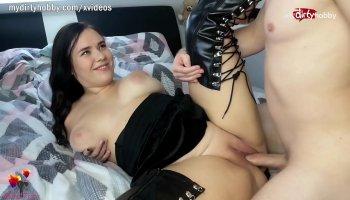 Jeune blonde charmeur Cynthia Thomas baise chaude POV vidéo